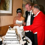 Toastmaster assisting with Cutting the Cake