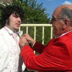 Brian Cox Toastmaster - Helping with those Button Holes